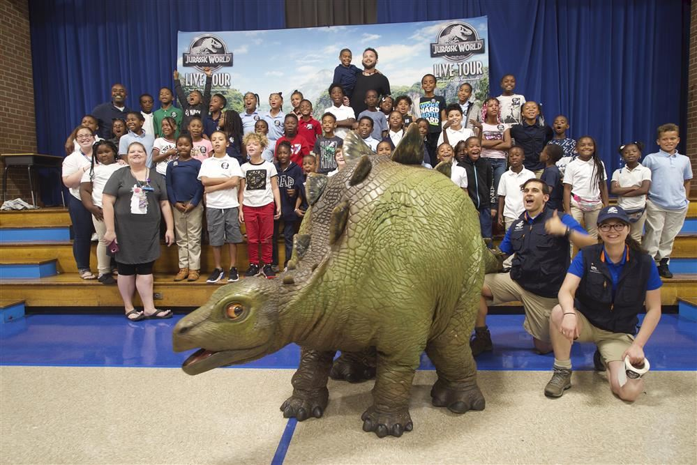 Jurassic World Smiling Group Picture