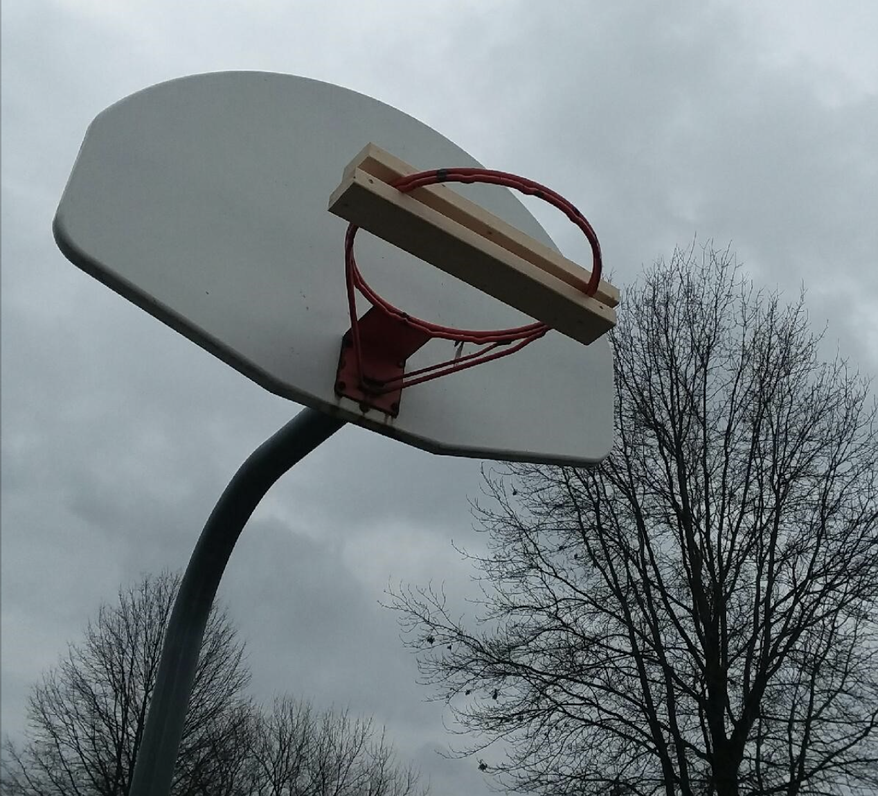 Basketball Hoop Blocked Off