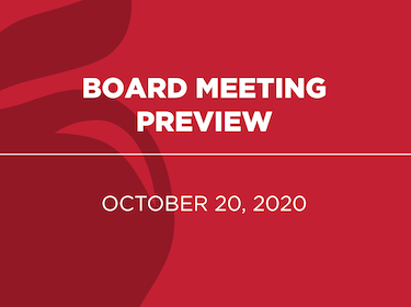 Board Meeting Preview: October 20, 2020