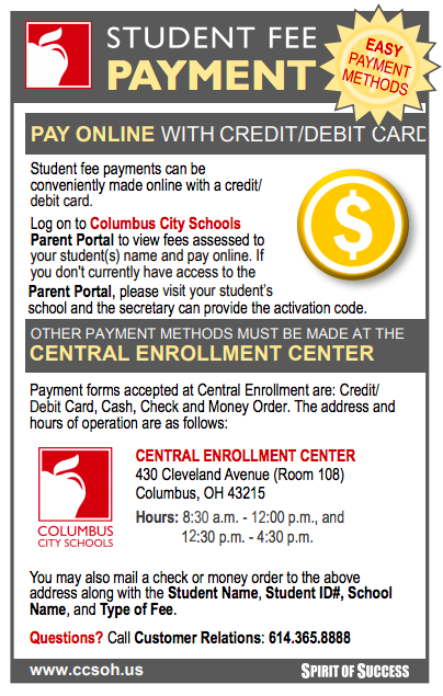 Student Fee Payment Flyer