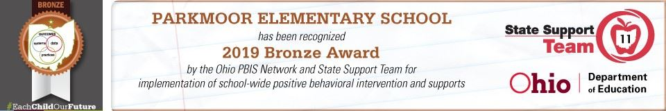 Parkmoor has been recognized with a Bronze Award.